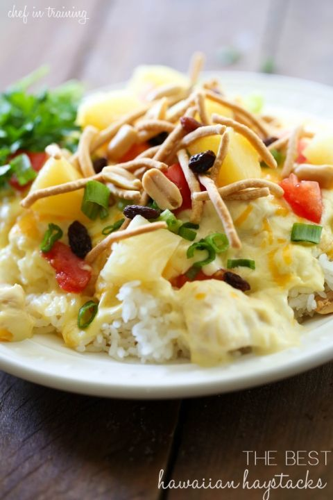 The Best Hawaiian Haystacks from chef-in-training.com …Of all the recipes I have tried, none come close to this amazing creamy chicken topping!