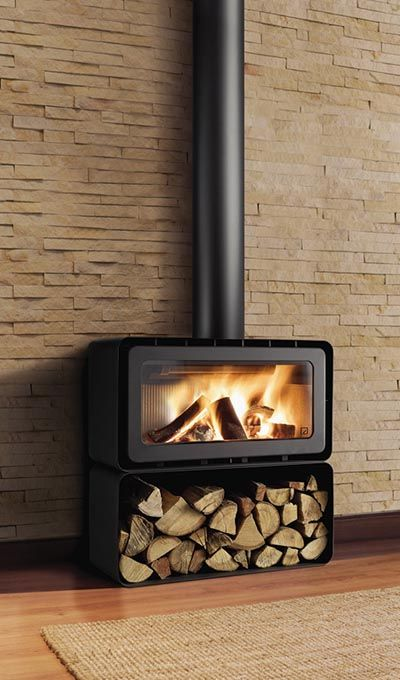 Stunning fireplace- could be an option- love the wood storage below. (Italcotto stock them)  820 NMRS - Calore Sustainable Energy