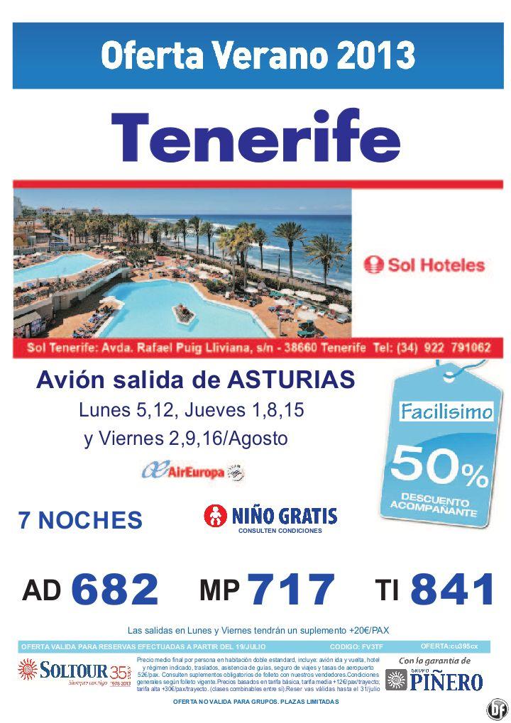 50% Hotel Sol Tenerife salidas desde Asturias - http://zocotours.com/50-hotel-sol-tenerife-salidas-desde-asturias/