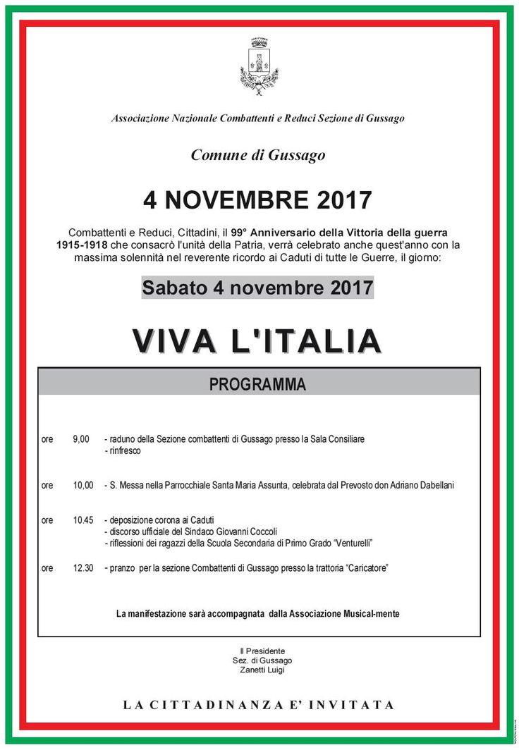 """Commemorazione del """"4 Novembre"""" 2017 a Gussago - http://www.gussagonews.it/commemorazione-4-novembre-2017/"""