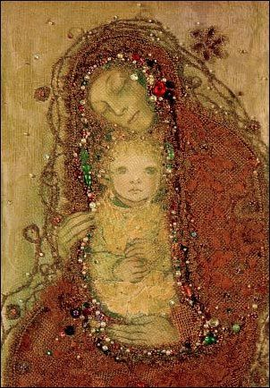 I used to have a poster by this German artist, Sulamith Wulfing. I had no idea she did many Christian pieces.