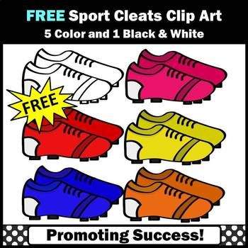 You will download six FREE sports cleats clipart images. These graphics work well for sports activities, including football, soccer, baseball, golf and more. Use them for  bulletin boards, labels, interactive notebooks, foldables and other projects. Kids love cute clip art!