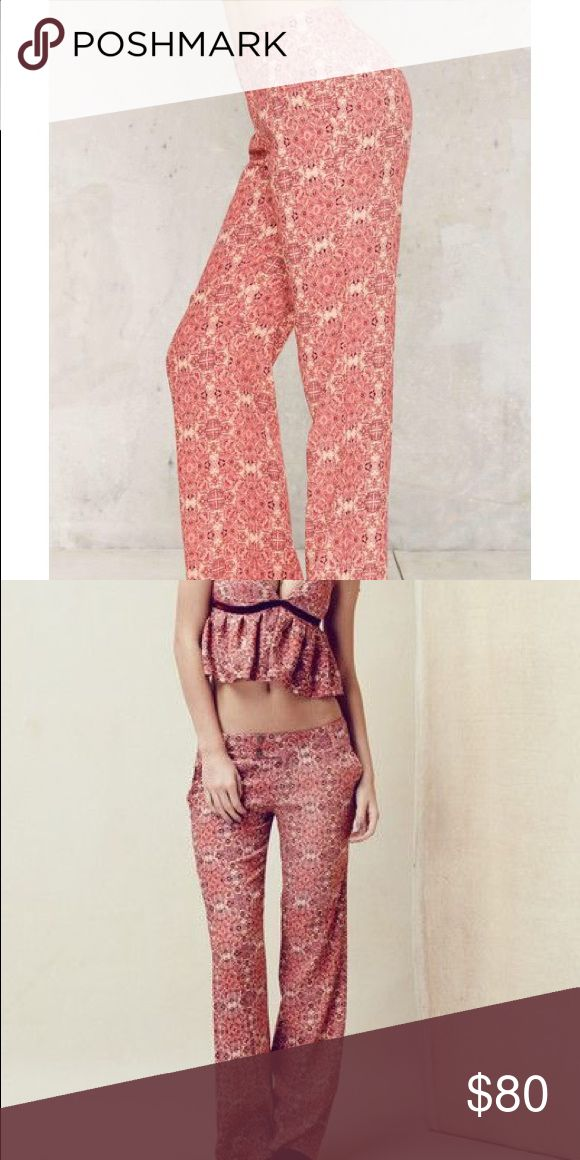 For Love and Lemons Trousers FL&L Geneva Printed trousers. Brand new, never worn. Size XS For Love and Lemons Pants Trousers