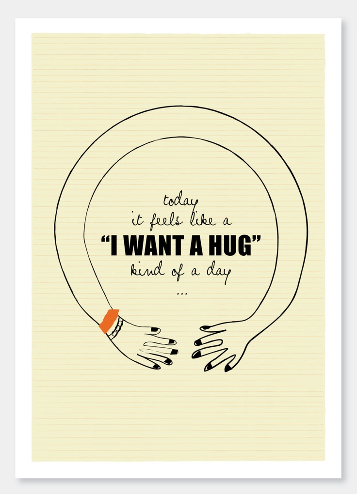 "Sometimes you just need a hug... ""I want a Hug"" - - - A4 art print  by Sophia Georgopoulou."