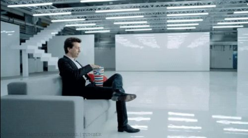 And here's a gif of David Tennant eating popcorn like a boss. You're welcome. <- HAHAHA AWESOME ->