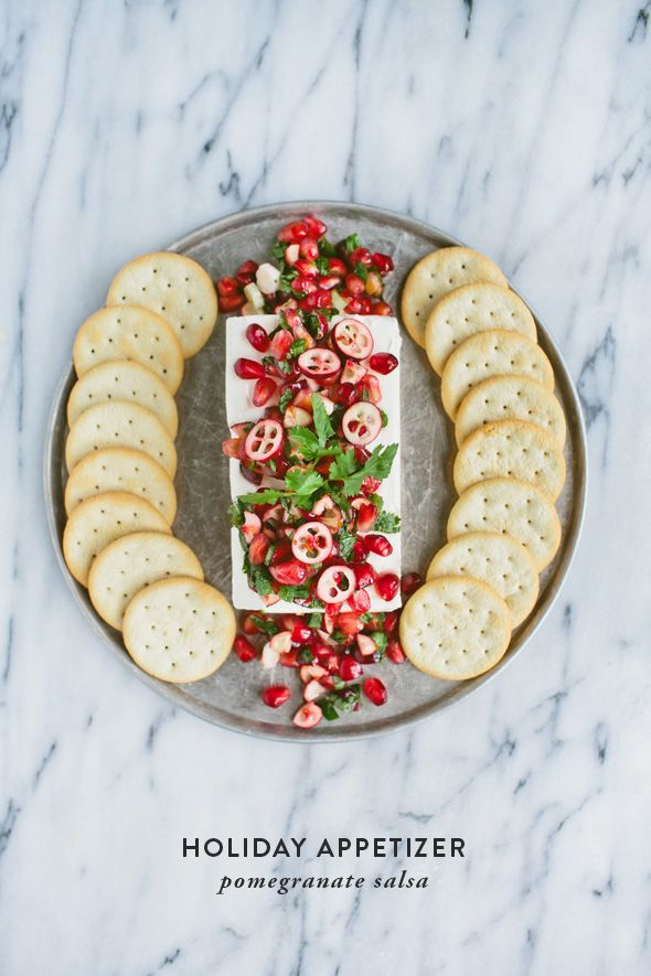 Pomegranate Salsa - such a pretty appetizer idea for a holiday or ...