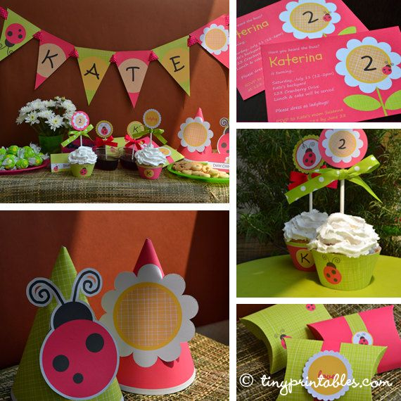 Lovely printables for spring and early summer. It's also a great choice for backyard parties or celebration at the park. US$12.95.