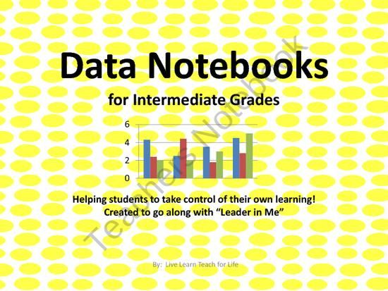 DATA NOTEBOOKS FOR INTERMEDIATE GRADES from Live Learn Teach for Life on TeachersNotebook.com (9 pages)  - Data Notebooks for Intermediate grades is all you need to begin Data Notebooks with your students.  Look no further, this set has graphs for fluency, comprehension, math test, spelling test, and social studies/science unit test.  Above all of that I inclu