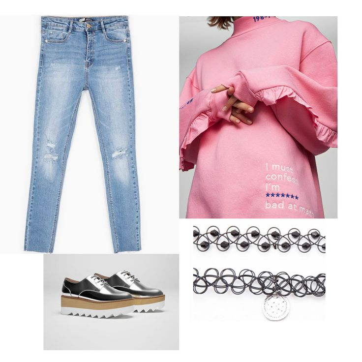 """Thissweater fromPull&Bear is EVERYTHING!! Frilled sleeves is one of the latest trends that I love and the logo is totally me cause really """"I must confess I'm bad at maths"""" :…"""