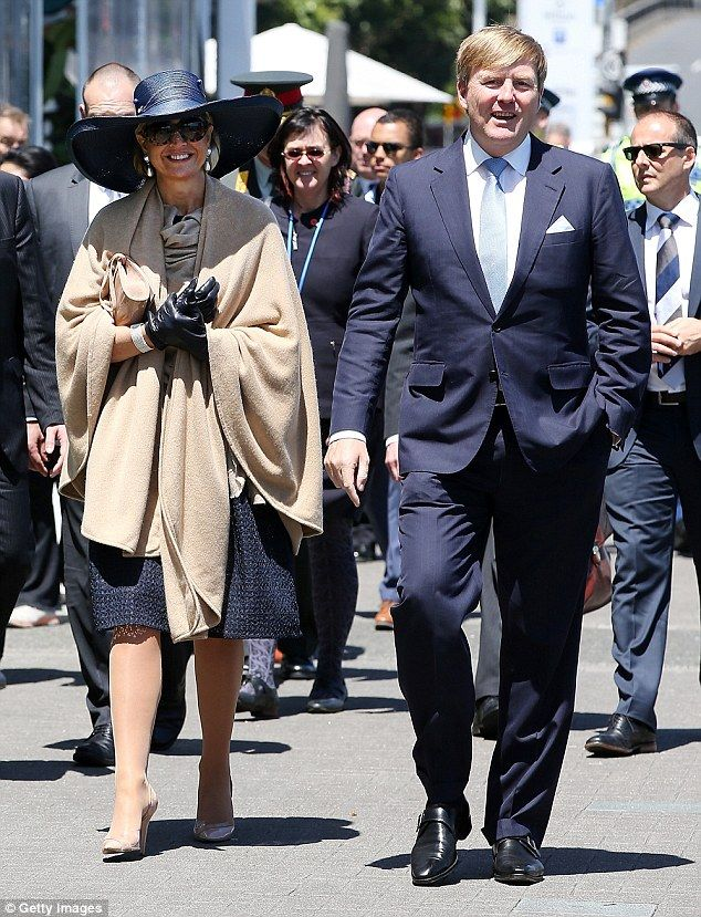 All aboard: The couple visited the training vessel Spirit of New Zealand on Wednesday, day three of their state visit (pictured)
