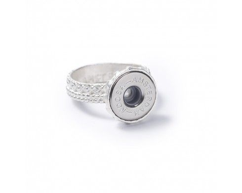 petite chunk® planet ring - silver - Petite rings - NOOSA-Amsterdam Petite Collection