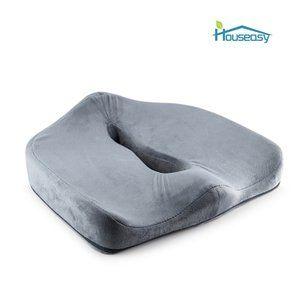 Amazon.co.jp : Houseasy U字型立体ヘルスケア座布団 低反発 姿勢矯正 骨盤サポート 腰痛対策 健康クッション 座り心地 (グレー) : ホーム&キッチン