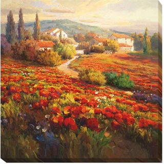 Roberto Lombardi 'Poppy Fields' Canvas Art | Overstock.com Shopping - The Best Deals on Gallery Wrapped Canvas