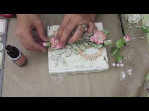 Shabby Chic Altered Box Project Share #1 - YouTube
