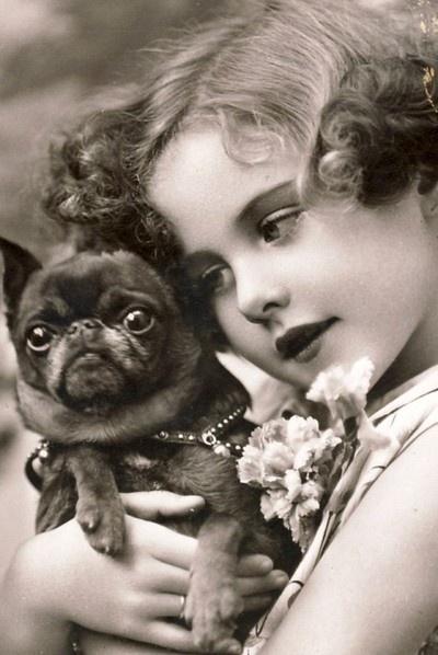 Best Friends 1920s portrait postcard