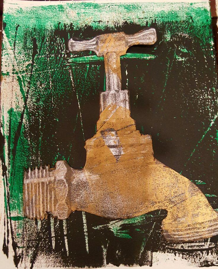 Brass tap print original.