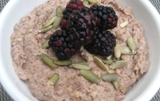 Gluten Free Paleo Porridge Without Oats Or Wheat - This Paleo breakfast porridge is far healthier than oats which contains wheat & other nasty gluten containing grains  #PaleoOats #PaleoPorridge
