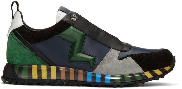 Fendi Multicolor Speed Runner Sneakers