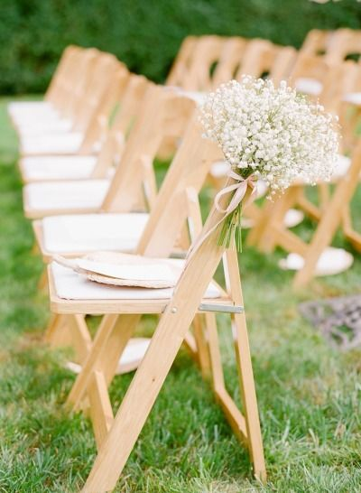 Baby's breath bouquets on the aisle chairs: http://www.stylemepretty.com/2013/11/20/a-maryland-estate-wedding-from-jodi-miller-photography/ | Photography: Jodi Miller - http://jodimillerphotography.com/