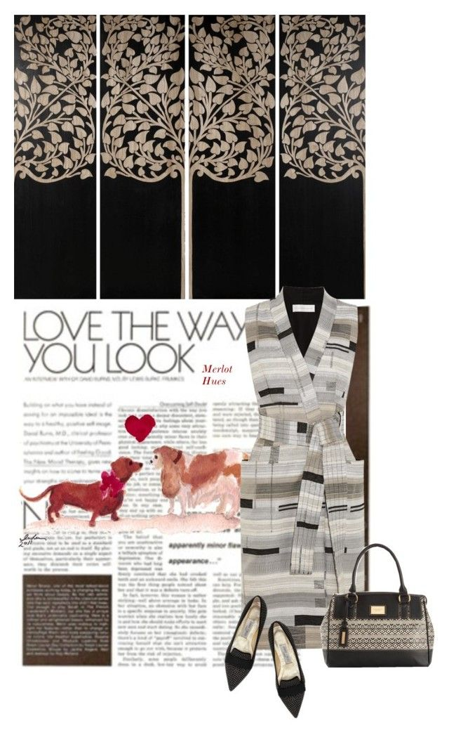 """Love the way you look"" by merlothues ❤ liked on Polyvore featuring DK Living, Victoria, Victoria Beckham, Jimmy Choo and Tignanello"