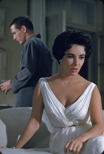 """Liz Taylor in """"Cat on a Hot Tin Roof'"""