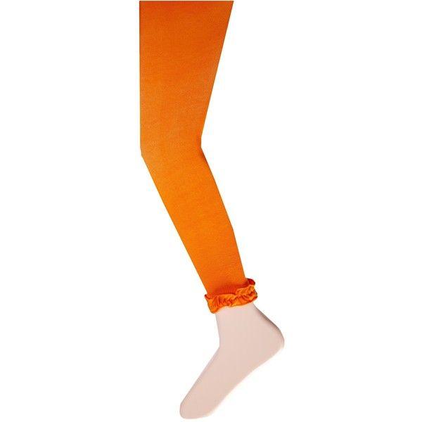 Jefferies Socks Pima Cotton Ruffle Footless Tights 2-Pack Hose, Orange ($15) ❤ liked on Polyvore featuring intimates, hosiery, tights, orange, orange tights, footless tights, jefferies socks, orange stockings and footless stockings
