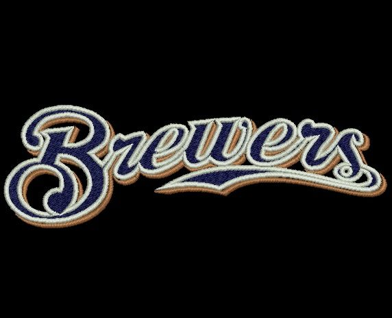 """Milwaukee Brewers embroidery designs. Milwaukee Brewers Logo. Formats: CSD, DST, EXP, HUS, JEF, PES, SHV, VIP, XXX, VP3,   Sizes: 4.74x1.51"""", 5.78x1.83"""", 6.91x2.20""""  Price 2.50$   Contacts: provokator04@rambler.ru"""