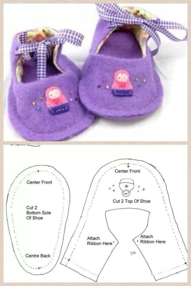 How To Sew Baby Shoes Tutorial