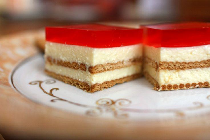 #Cheesecake  #NoBakeCheesecake #Sernik na zimno z herbatnikami #Sernik z galaretka i #owocami