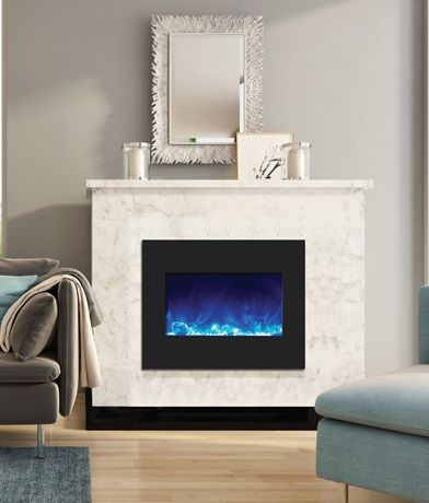 Amantii Zecl 26 2923 Bg Ice Electric Fireplace Insert With Fire