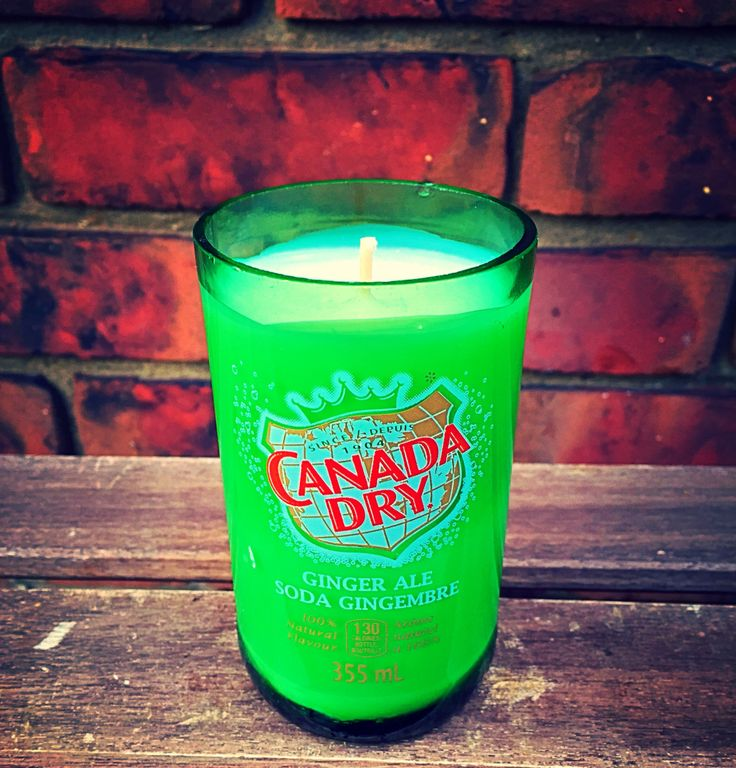New to AdamsBottleShop on Etsy: Soy Wax Candle - In a Canada Dry Bottle (20.00 CAD)