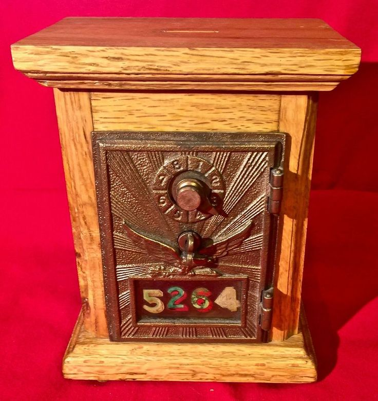 Vintage Post Office Box Door Bank Raised Eagle Combination Lock RD 0497 #unbranded
