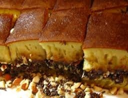 "Indonesian Food ""Martabak Manis"" (chocolate, peanut, sesame, milk, cheese, and cake batter)"