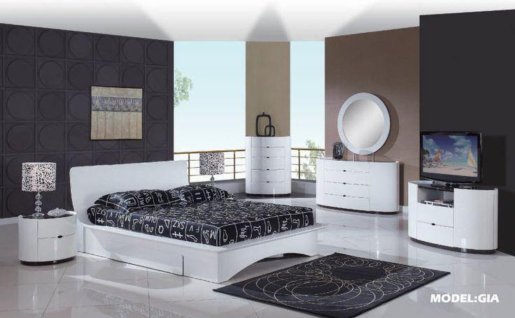 Global Furniture USA Gia White Bedroom Set