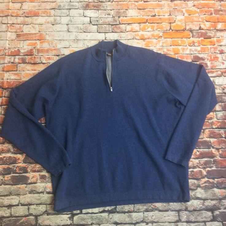 Peter Millar Crown Sport Men's Size XXL Blue Half Zip Sweater #Miller #12Zip
