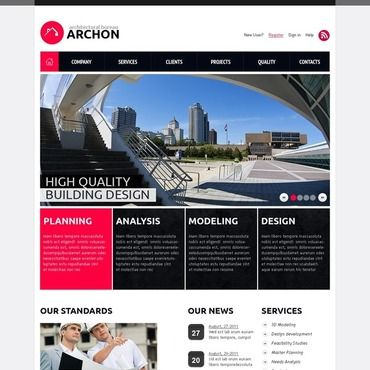 Construction Company Flash CMS Template