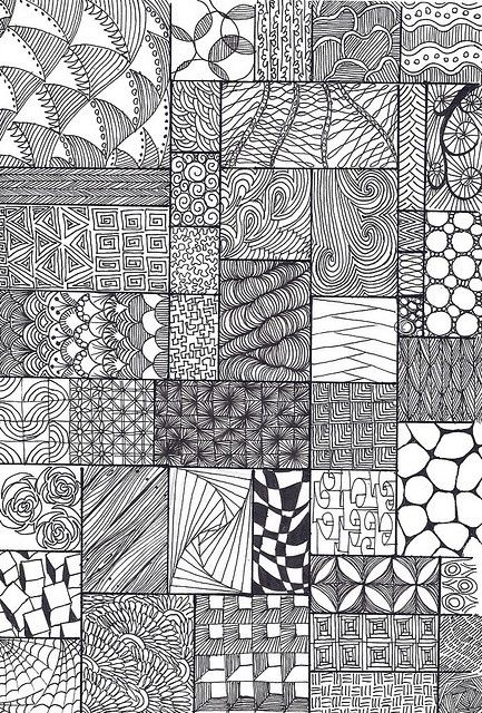 gotta love this sampler of inky ZenTangle type stuff.