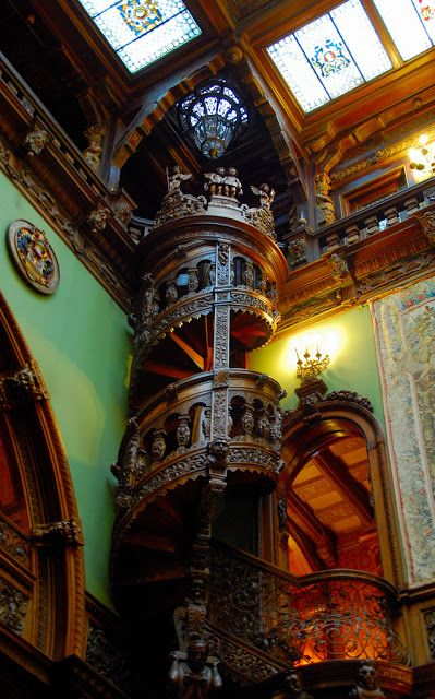 Old World, Gothic, and Victorian Interior Design: Victorian interior gothic interior - Valkyrie as bannister supports?