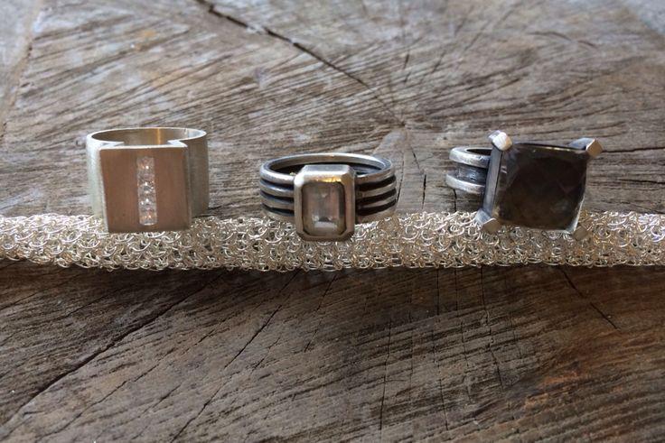 Silver rings :: Caro Fischer :: Joyería Contempránea de Autor :: Contemporary Handcrafted Jewelry