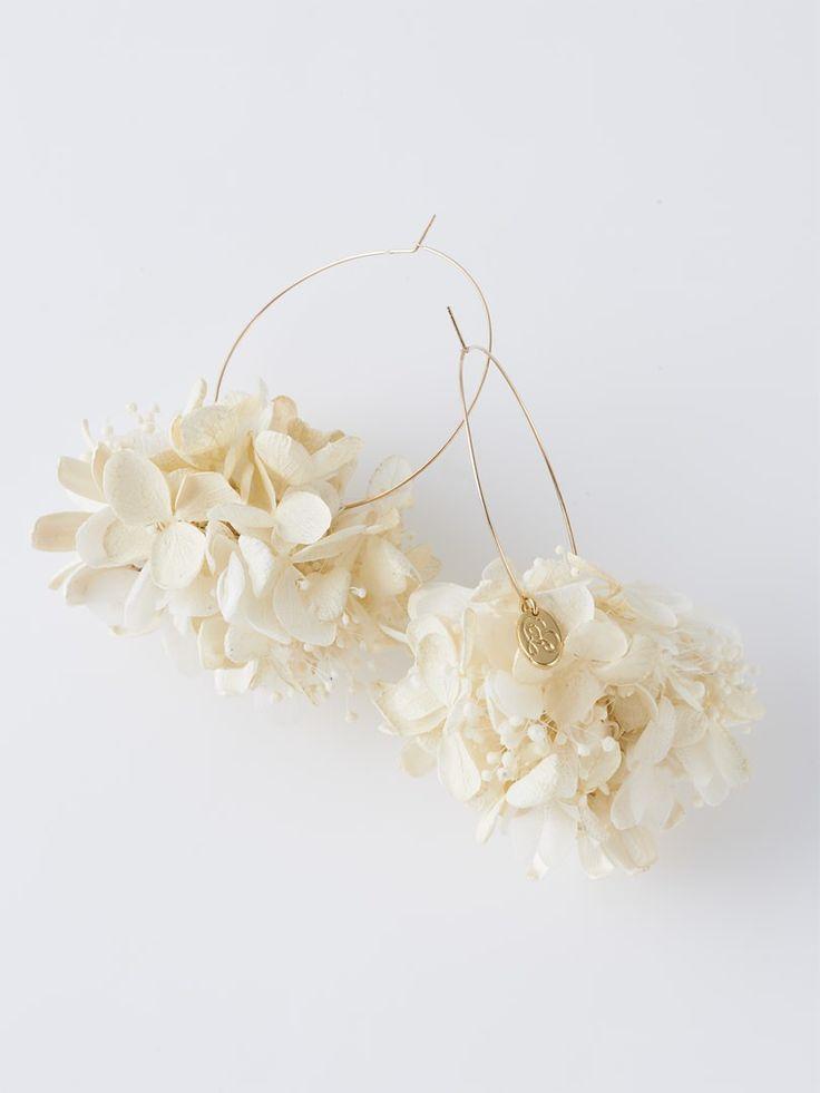 Athalie 紫陽花 フープピアス(大)   DOUBLE MAISON