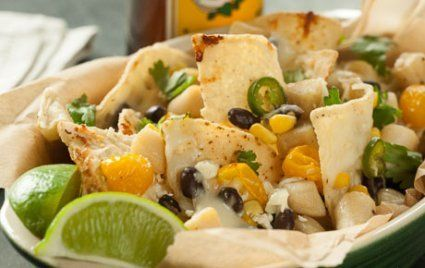 Scallop Nachos with Black Beans and Corn