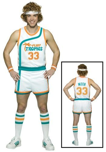 Become the ABA's greatest trash talker in this plus size Jackie Moon costume. You'll delight your buddies and have them all cracking up when they see you dressed like Will Ferrell from the movie Semi Pro!