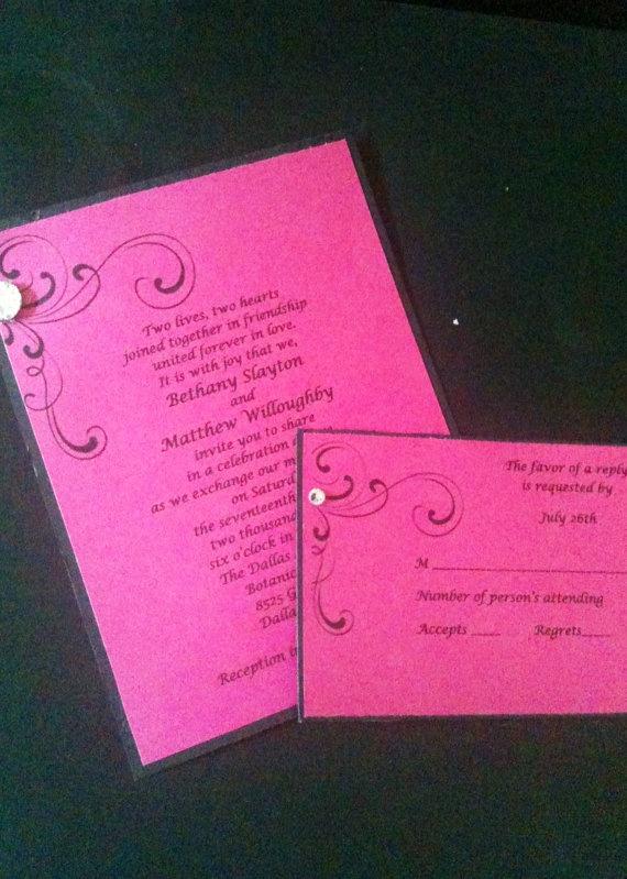 Pink Bling Wedding Invitation By JensationalDesigns On Etsy, $1.75