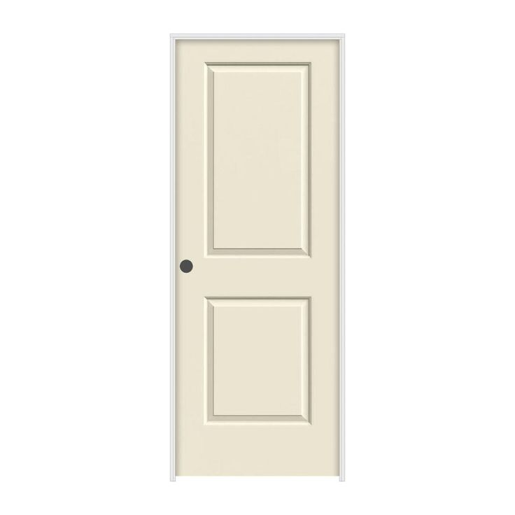 JELD WEN 28 In. X 80 In. Molded Smooth 2 Panel Square