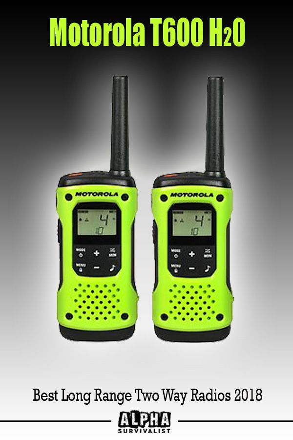 The Motorola Talkabout T600 H2O two way radio is an FRS/GMRS