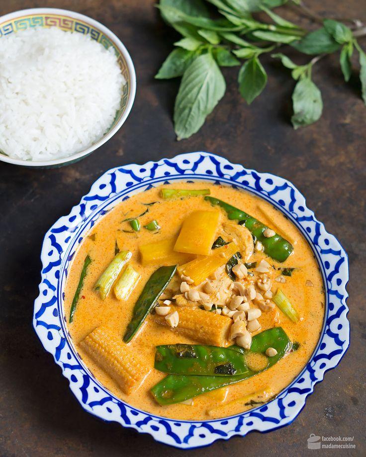 Rotes Thai Curry mit Huhn   Madame Cuisine Rezept