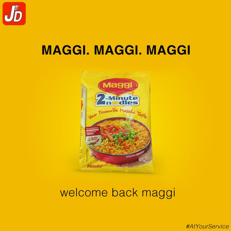 Yes! Maggi is back! We deliver it Now.  Download App Now