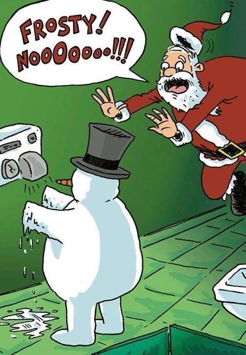 Noooo Frosty! funny quote cartoon lol joke snowman frosty melt