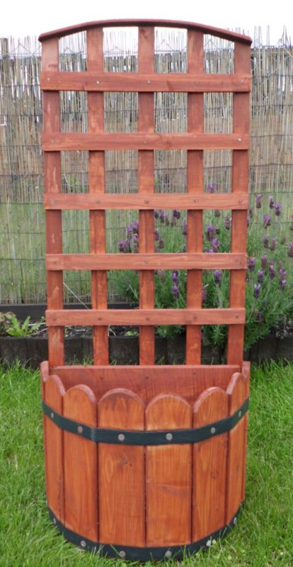 Wood Wooden Trellis Garden Planter New Ebay Creations Garden Planters Decor