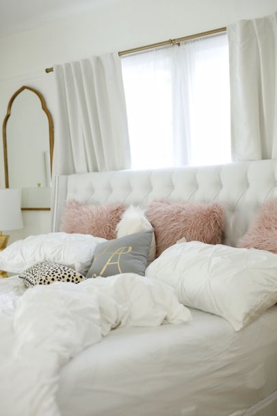 Best 25 white gray bedroom ideas on pinterest bedding master bedroom gray bed and gray bedding - White and gold room ...